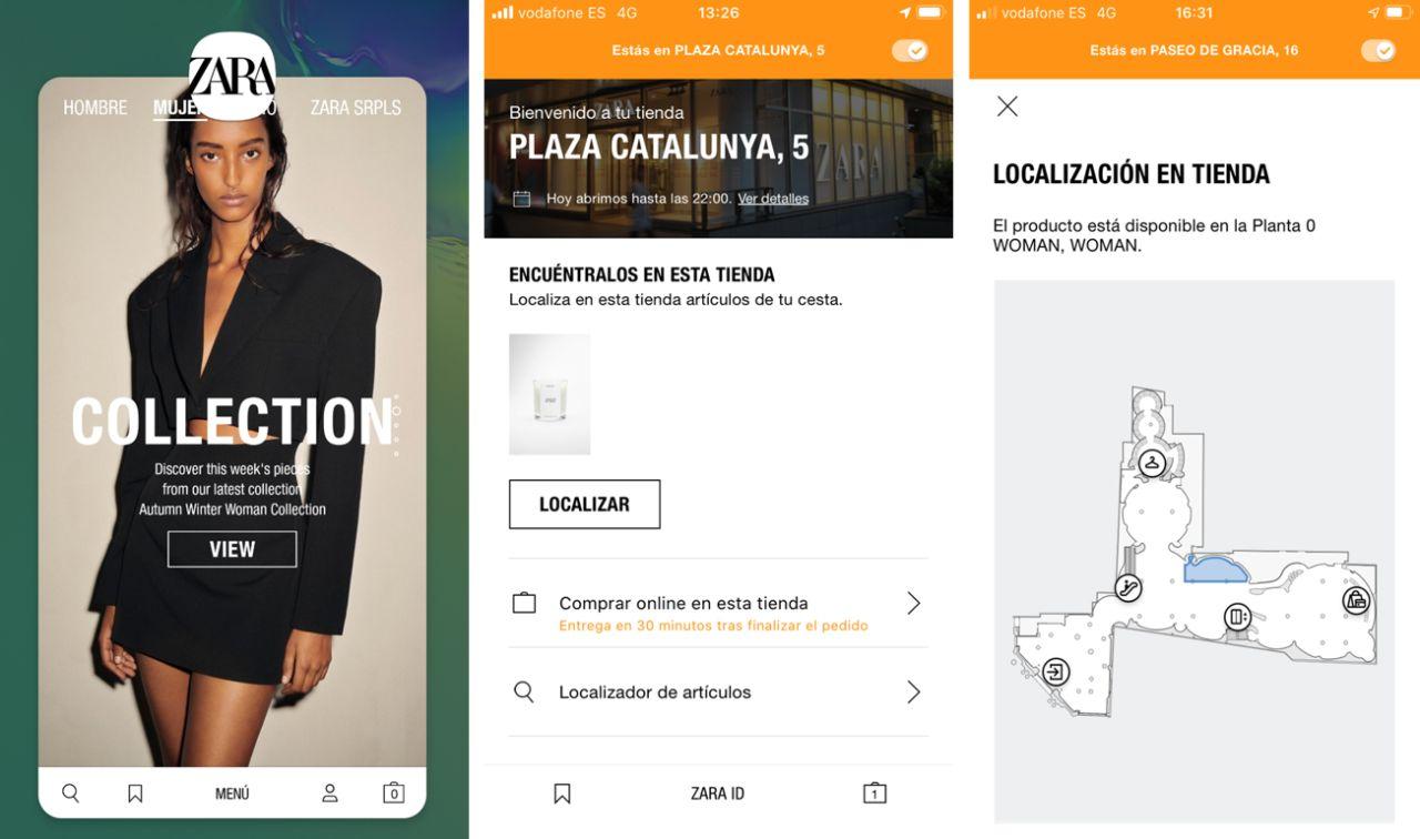 """Zara se reinventa con el """"Modo Tienda"""" de su APP"""